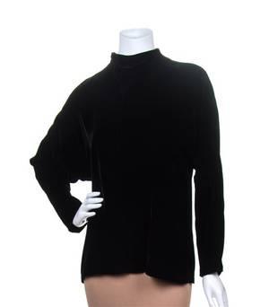 An Yves Saint Laurent Black Velvet Tunic