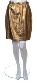 An Ungaro Gold Leather Skirt