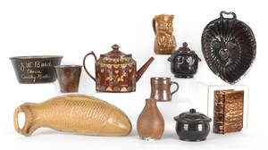 Miscellaneous redware and earthenware