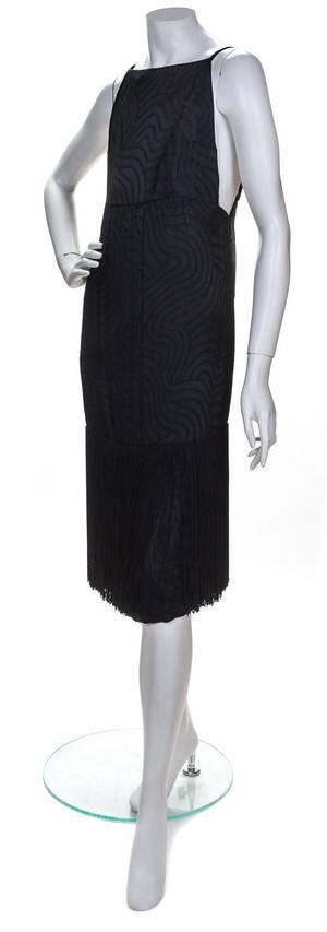 A Givenchy Black Silk Backless Dress