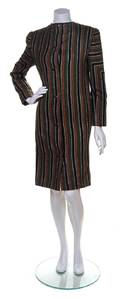 A Galanos Multicolor Wool Striped Coat
