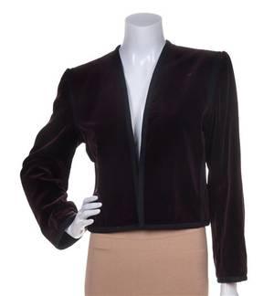 An Yves Saint Laurent Burgundy Velvet Jacket