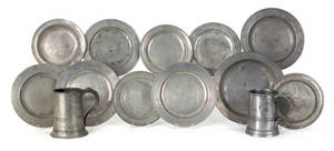 Collection of English pewter 18th19th c