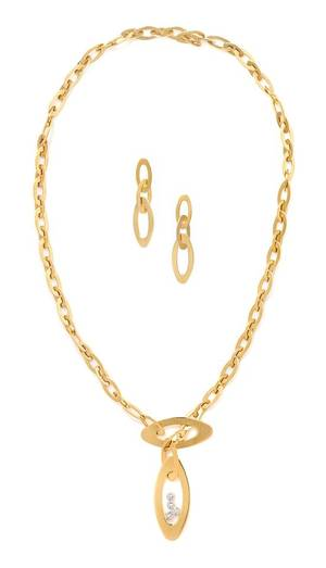 An 18 Karat Yellow Gold and Diamond Demi Parure Roberto Coin