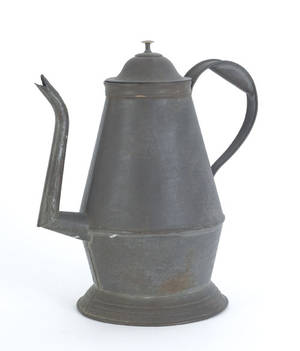 Pennsylvania punched tin coffee pot
