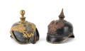 Two German Pickelhaube helmets