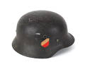 German WWII M35 helmet with Luftwaffe double decal and liner