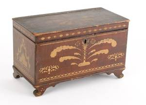 Pennsylvania poplar miniature blanket chest mid 19th c