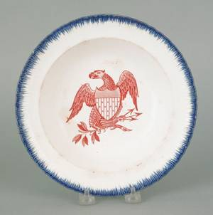 Leeds blue feather edge soup bowl early 19th c