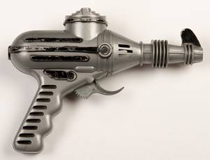 Gray and Black Ray Gun New York Ideal Toy Company
