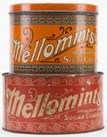 Two Round Five Pound Mellomints Tins Including orange