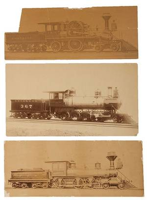 Group of Three LargeFormat Photographs of Steam