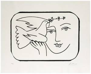 Picasso Pablo Spanish 18811973 Face with Dove of