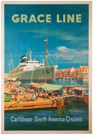 Grace Line Caribbean South American Cruises 1957
