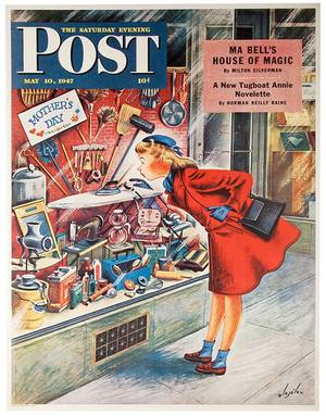 Saturday Evening Post Newsstand Poster New York 1947