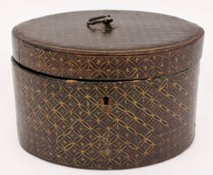 19th C Chinese Export Oval Tea Caddy