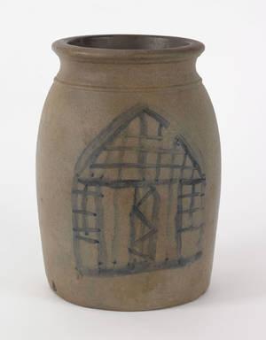 Pennsylvania stoneware crock 19th c