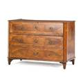 Italian neoclassical walnut  marquetry commode