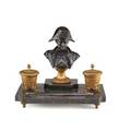 Napoleonic bronze and marble ink stand