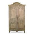 Provincial louis xv style painted armoire