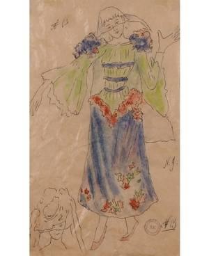 NATALIA SERGEEVNA GONCHAROVA RUSSIAN 18811962 Ballet Costume Design