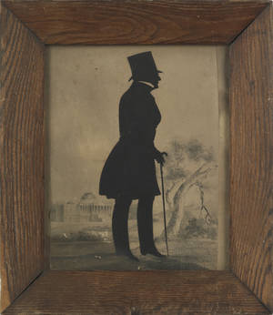 Hollowcut silhouette of Thomas Willing 17311820