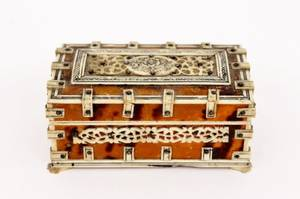 19th C Tortoise Shell and Ivory Nesting Boxes