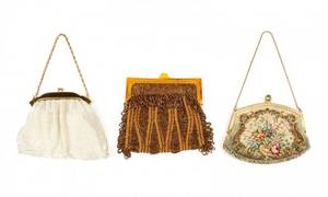 Collection of 3 Vintage Frame Purses