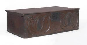 English oak Bible box dated 1707