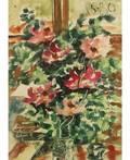 ANATOLY ZVEREV RUSSIAN 19311986 Pink Flowers