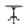 Chippendale style mahogany piecrust tea table