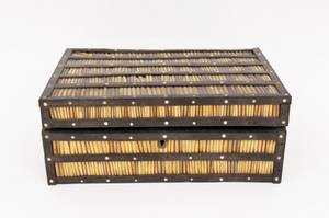 19th C Quill Work Fitted Box