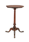 Pennsylvania Queen Anne walnut candlestand