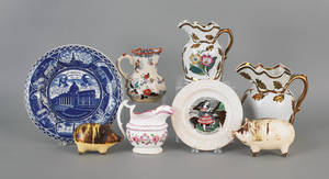 Miscellaneous group of pottery and porcelain to include Masons ironstone