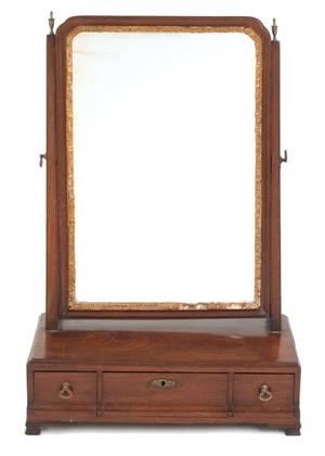 Georgian mahogany shaving mirror mid 18th c
