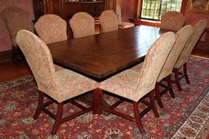 HICKORY CHAIR MARLBORO TABLE  DINING CHAIRS