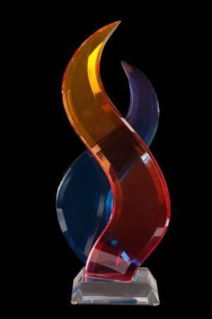 Shlomi Haziza Intertwining Acrylic Sculpture