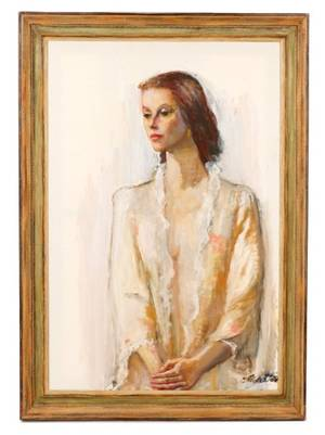 Constantin Chatov Portrait of a Slender Woman