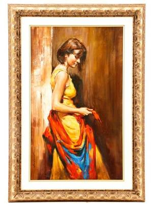 Andrew Atroshenko The Scarf Oil on Canvas