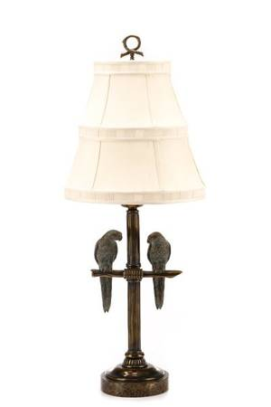 Maitland Smith Double Parrot Table Lamp