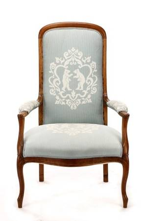 French Provincial Fruitwood Fauteuil Chair