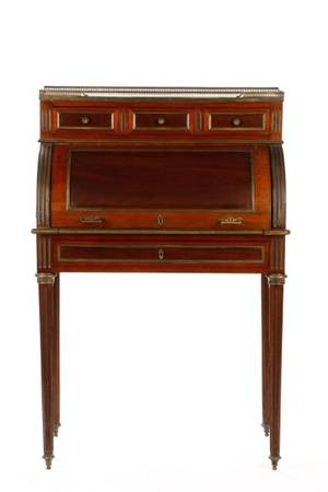 French Directoire Style Ladies Cylindrical Desk