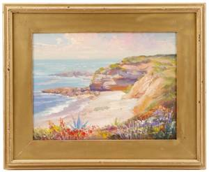 American School Silent Shores Oil on Canvas