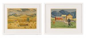 Collection of Two Mildred Rackley Silkscreens