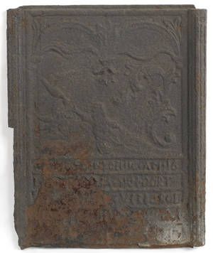Cast iron stove plate 18th c