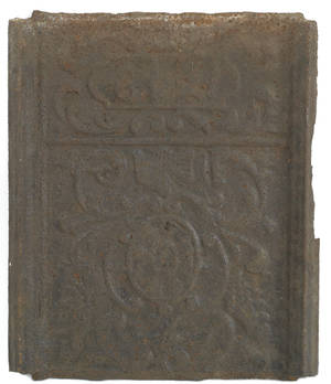 Cast iron stove plate