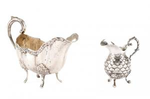 Collection of 2 Continental Silver Creamers