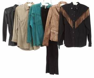 JANE FONDA SUEDE AND LEATHER GARMENTS