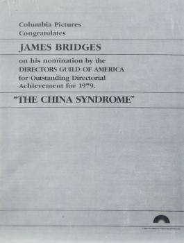JAMES BRIDGES COLUMBIA PICTURES EPHEMERA