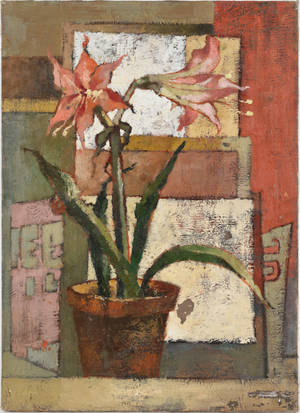Oil on board still life